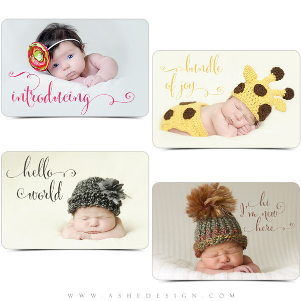 Newborn Photoshop Word Art | Hello World examples