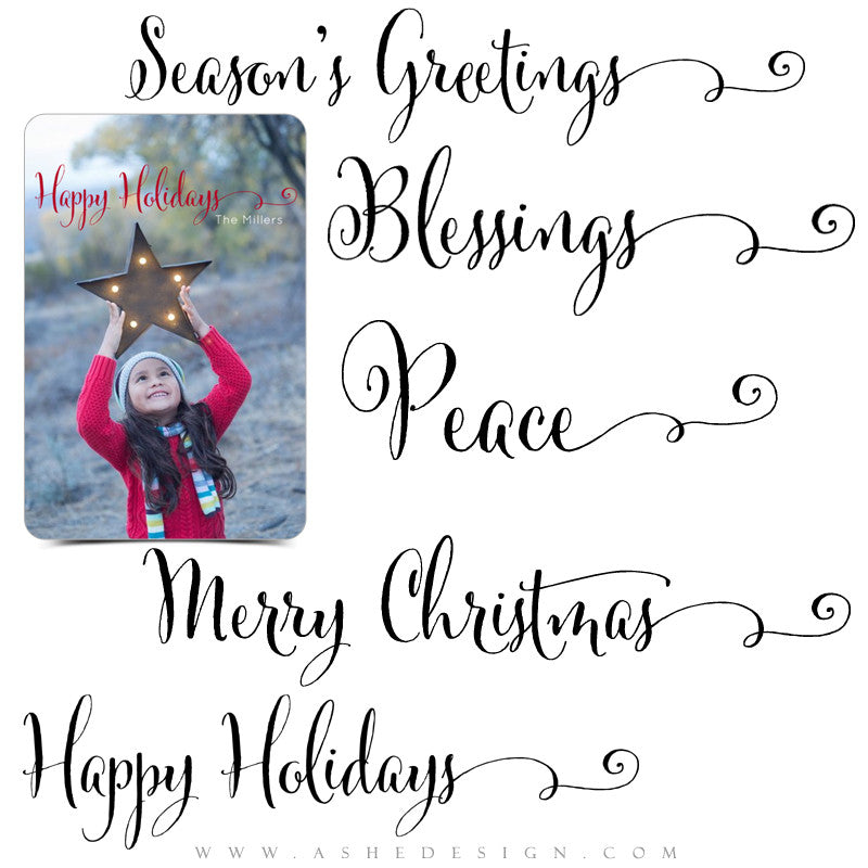 Photoshop Christmas Word Art Set | Season's Greetings