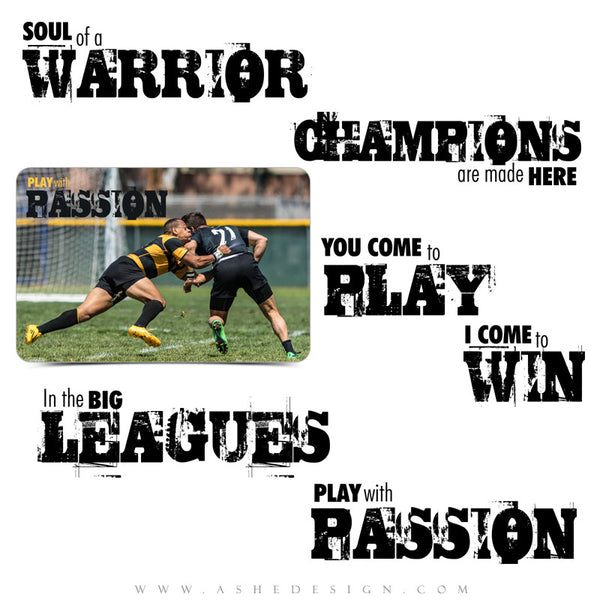 Sports Word Art Quotes | Play With Passion full set