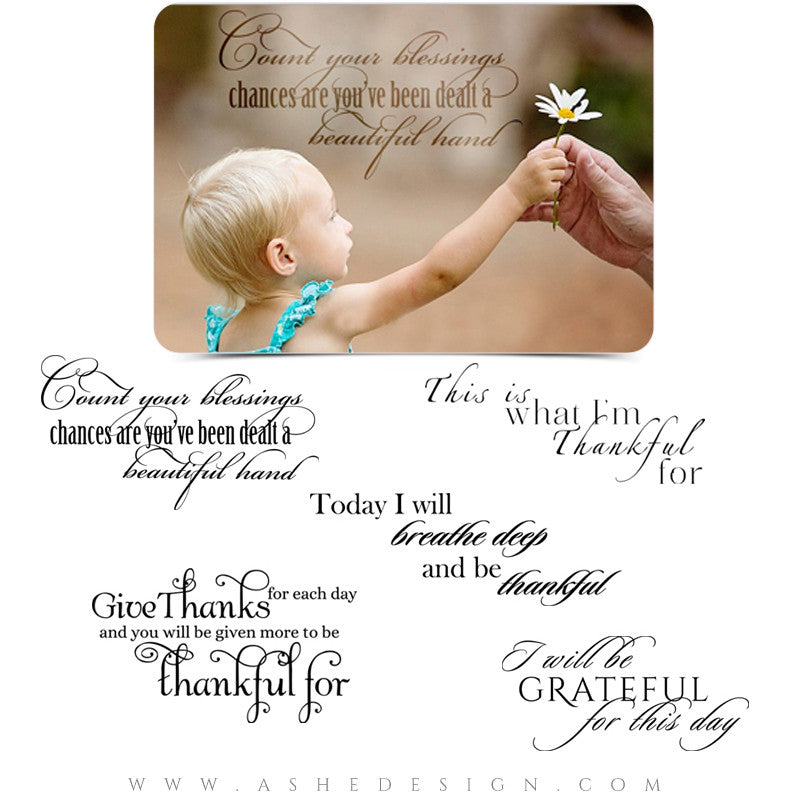 Inspirational Word Art Quotes - Count Your Blessings