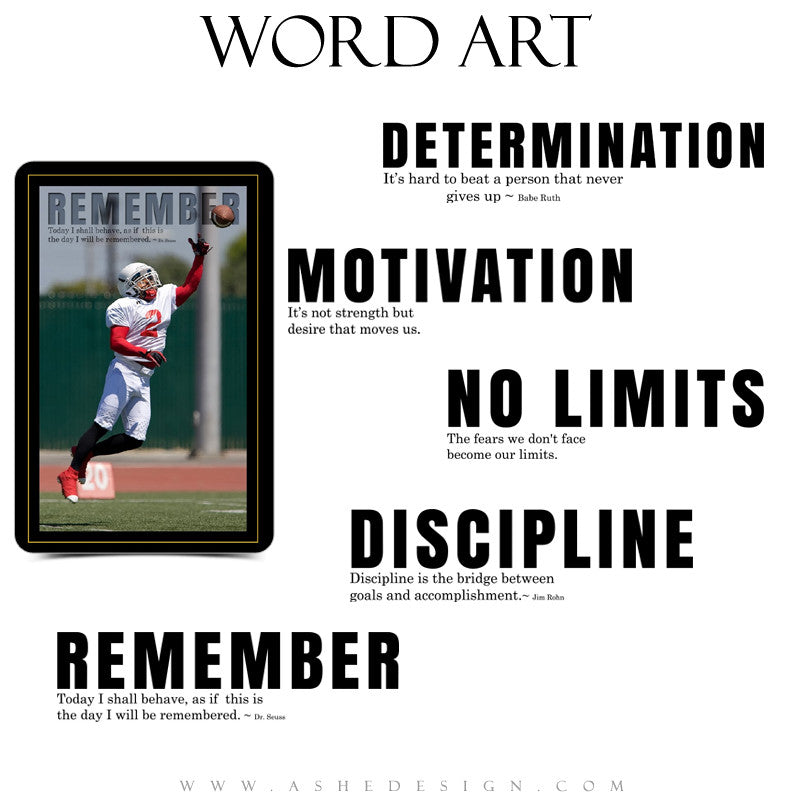 Sports Word Art Collection - Motivational Set (3)