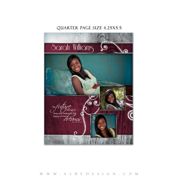 Steel Magnolia Yearbook Ad Template