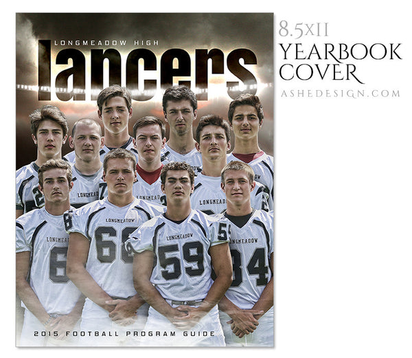 Yearbook Program Cover | Heart Of A Champion flat