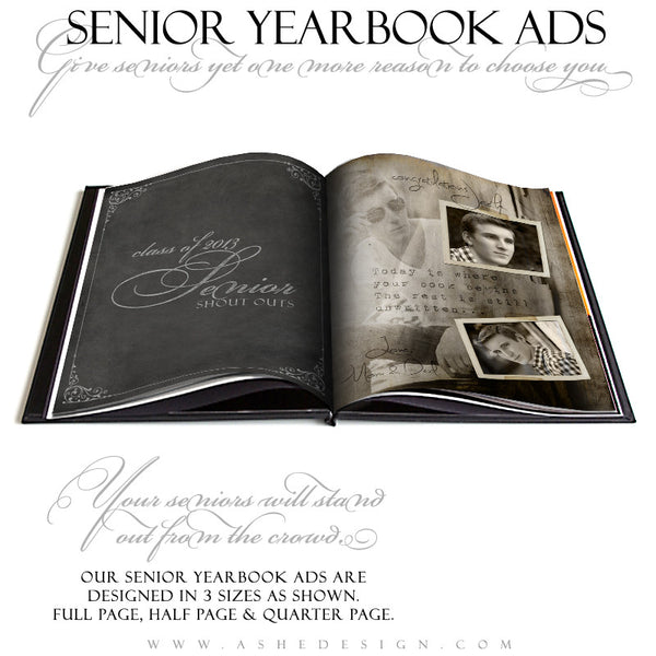 Unwritten Yearbook Templates for Photographers