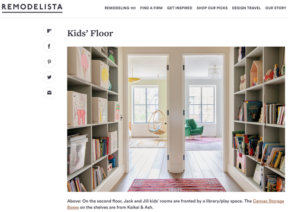 This Park Slope townhouse is featured in Remodelista.com, and they've got our bins!