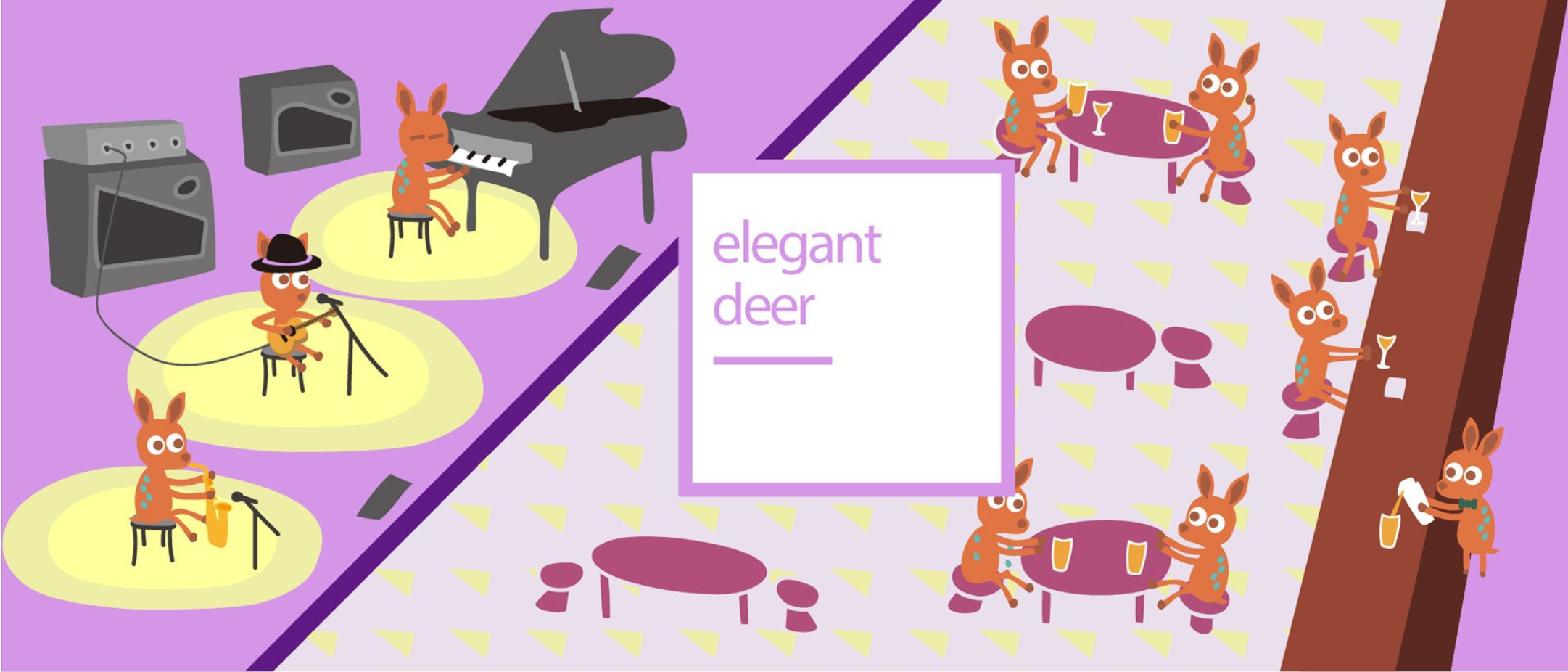 Elegant Deer Fun illustration