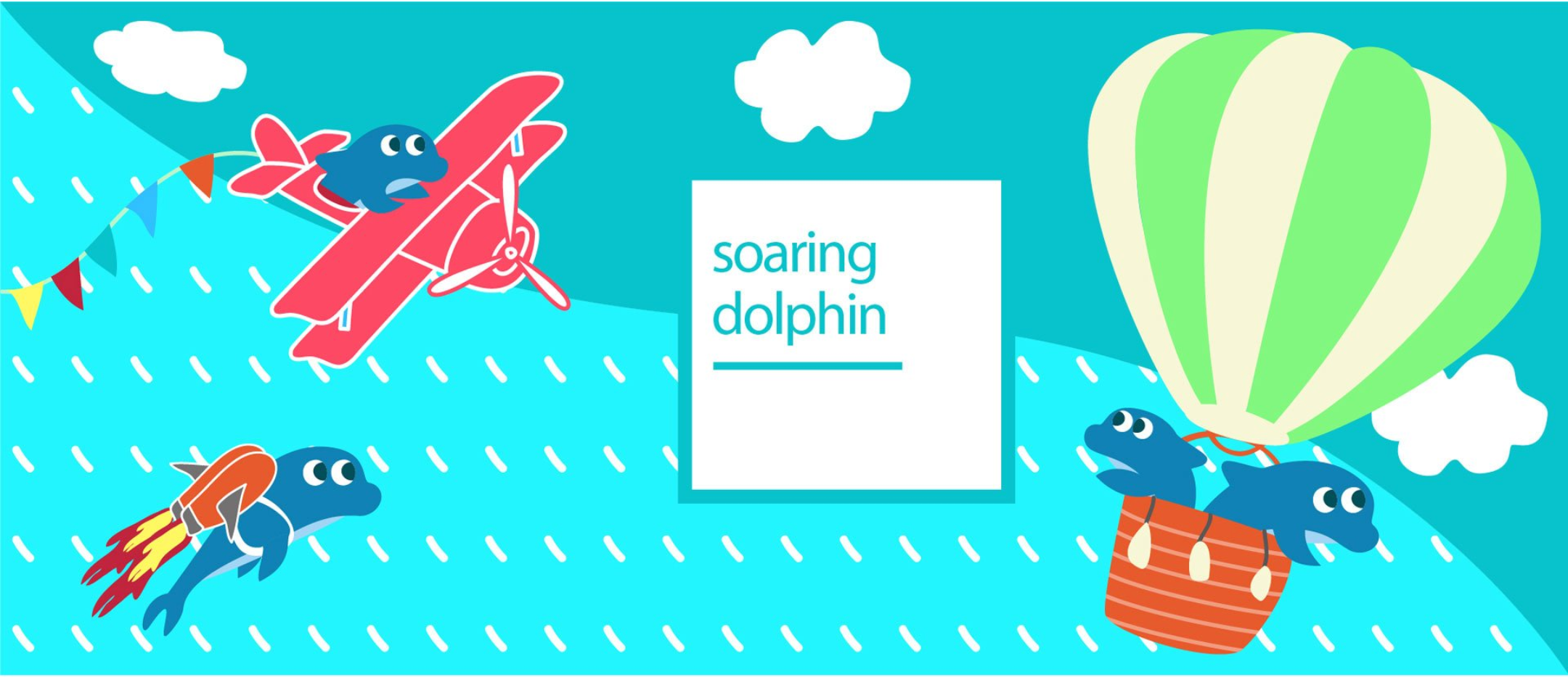 Soaring Dolphin Toy Storage Box Fun Drawing