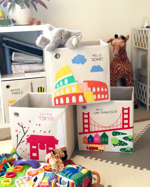 our toy cube storage bins make rooms cheerful and vibrant