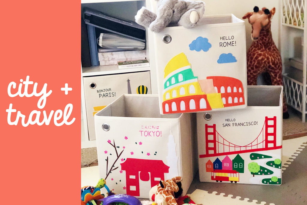 Toy Storage Box with City designs