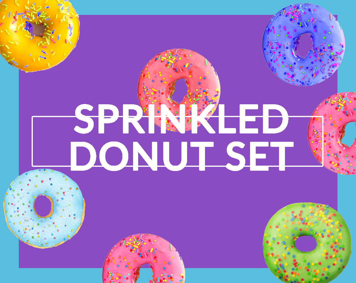 Sprinkled Donut Set of 4