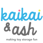 kaikai & ash logo - making toy storage fun