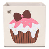 "Strawberry Cupcake 13"" Canvas Toy Storage Bin"