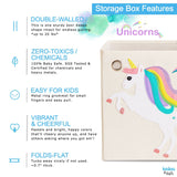 "Starry Unicorn 13"" Canvas Toy Storage Bin"