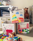 "Hello Rome! 13"" Canvas Toy Storage Bin"