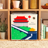 "Hello Beijing! 13"" Canvas Toy Storage Bin"