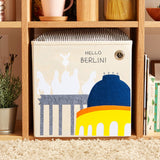 "Hallo Berlin! 13"" Canvas Toy Storage Bin"
