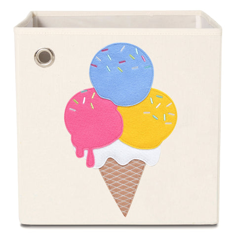 Blueberry Ice Cream, Canvas Storage Box