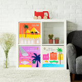 "Hello Cairo! 13"" Canvas Toy Storage Bin"