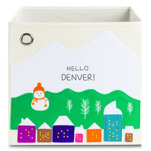 "Hello Denver! 13"" Canvas Toy Storage Bin"