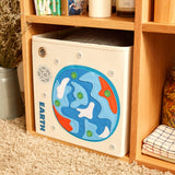 "Blue Earth 13"" Canvas Toy Storage Bin"