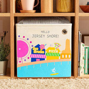 "Hello Jersey Shore! 13"" Canvas Toy Storage Bin"