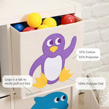 "Playful Penguin 13"" Canvas Toy Storage Bin"