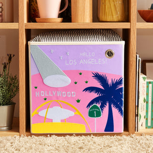 "Hello Los Angeles! 13"" Canvas Toy Storage Bin"