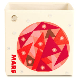 "Red Mars 13"" Canvas Toy Storage Bin"