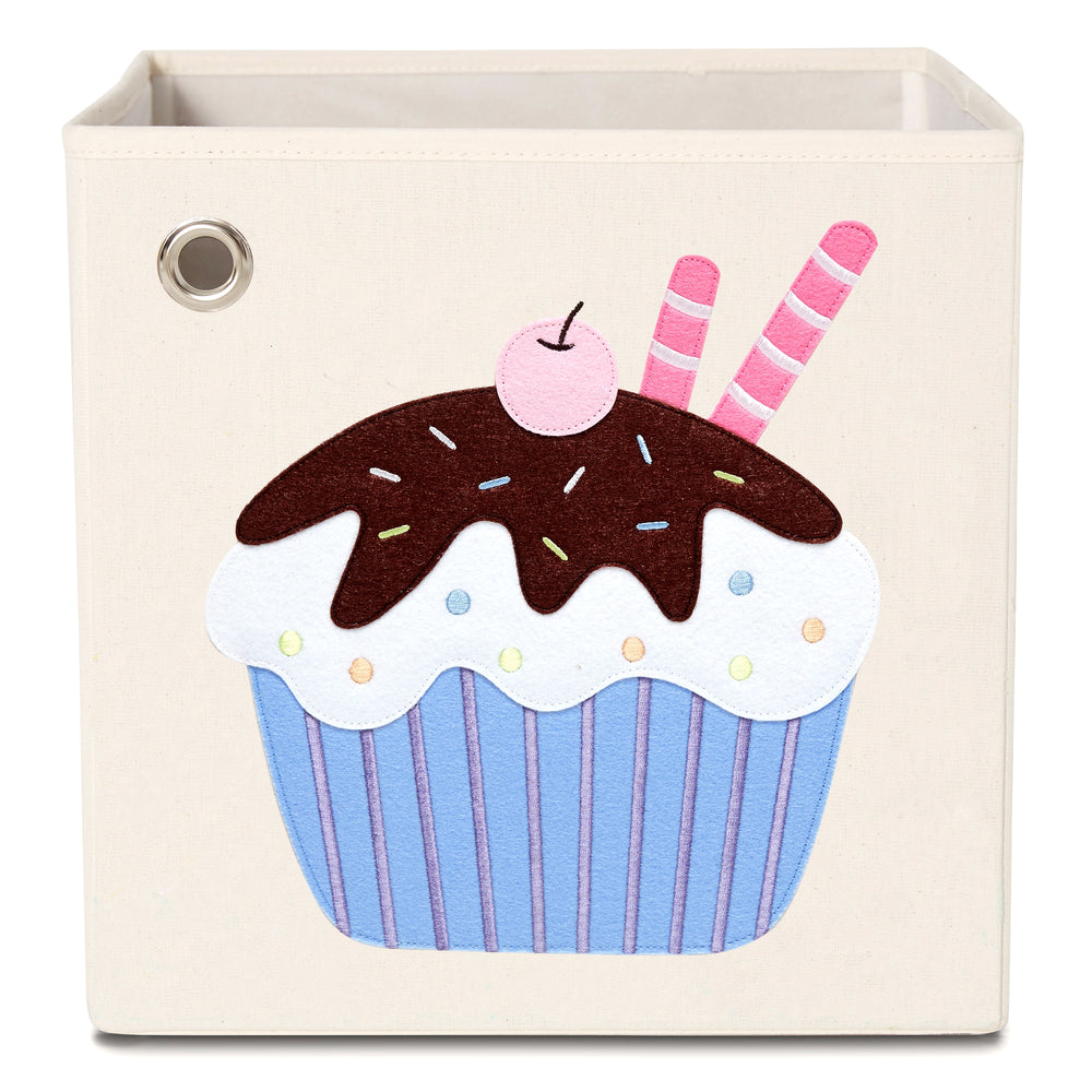 Chocolate Cupcake, Canvas Storage Box