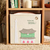 "Hello Seoul! 13"" Canvas Toy Storage Bin"