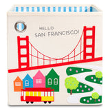 "Hello San Francisco! 11"" Canvas Toy Storage Bin"