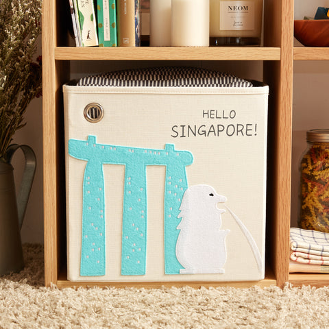 Hello Singapore! Canvas Storage Box