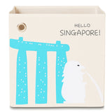 "Hello Singapore! 13"" Canvas Toy Storage Bin"