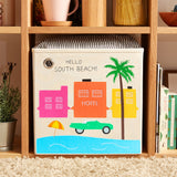 "Hello South Beach! 13"" Canvas Toy Storage Bin"
