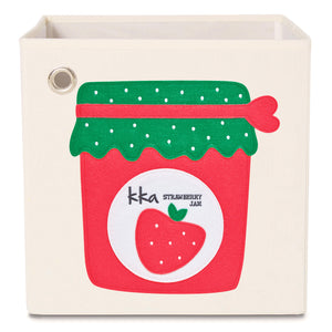"Strawberry Jam 13"" Canvas Toy Storage Bin"