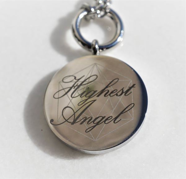 Highest Angel Necklace Chain- Silver