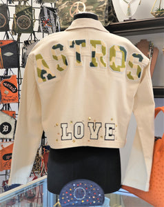 Astros  Camo Denim Jacket