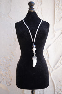 Pearl White Horn Necklace