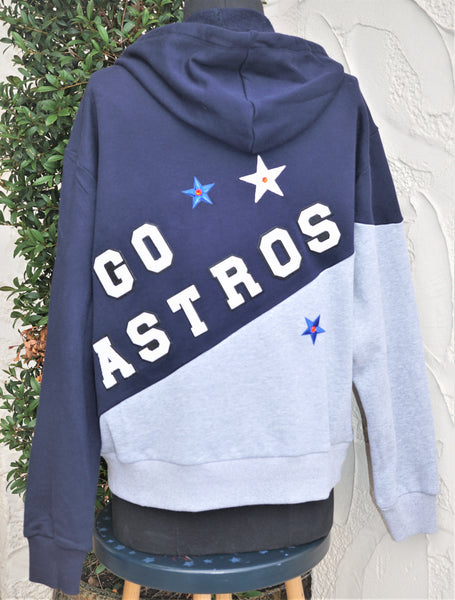 Astros Hoodie Laides Blue Gray Size Medium