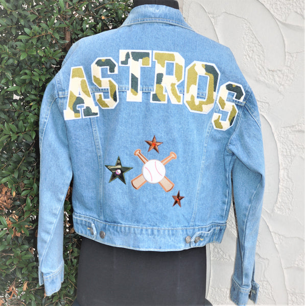 Astros Denim Jacket Ladies Size Medium