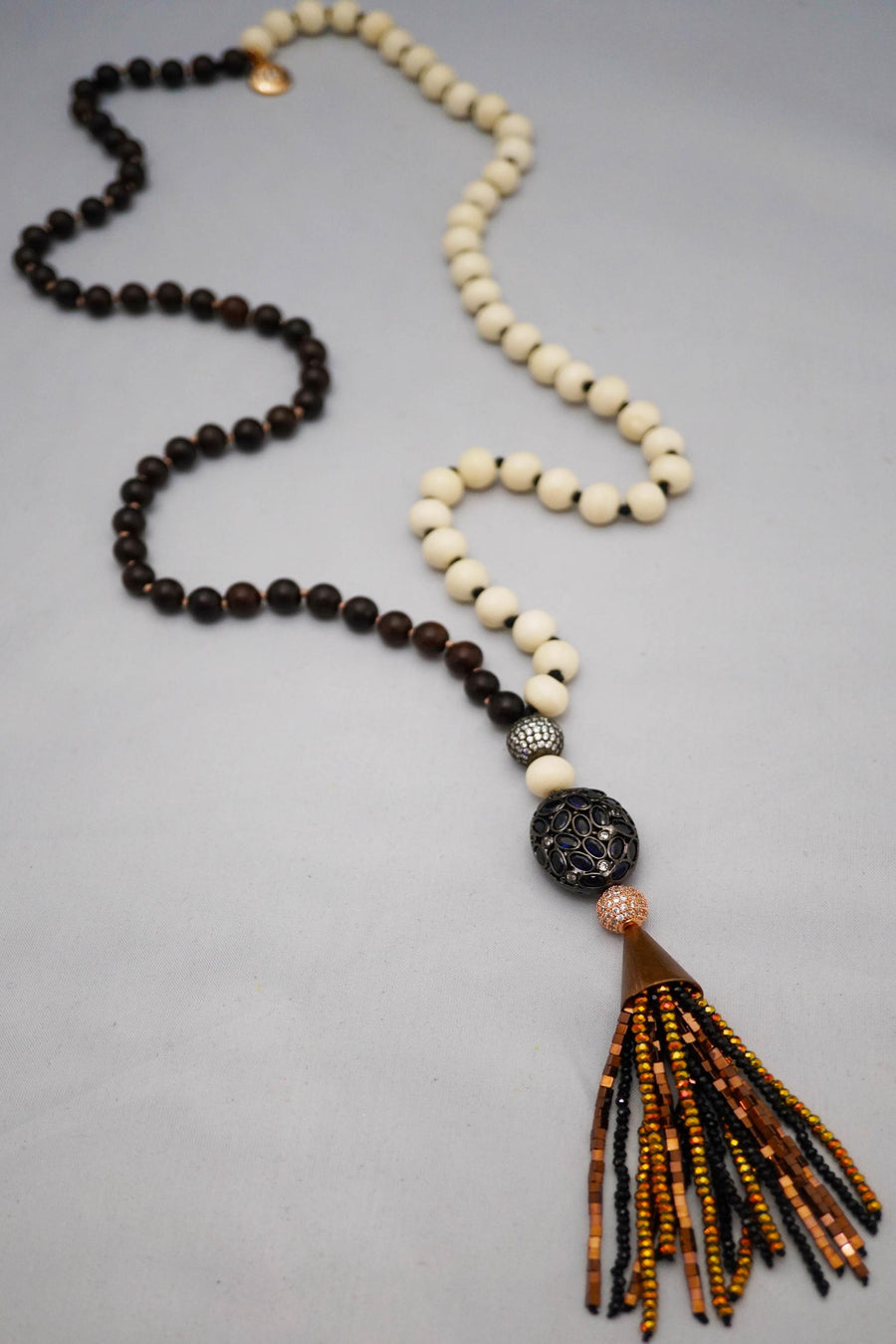 Duality Wood & Bone Necklace