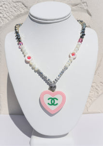CHANEL HEART CZ NECKLACE