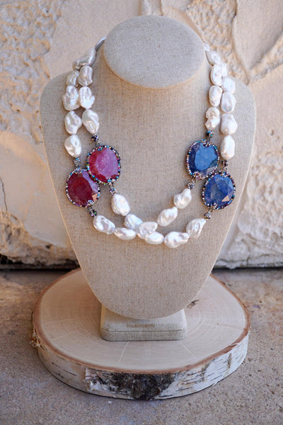 Red, White & Blue Pearls