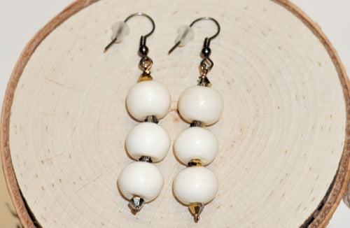 Bone White Dangling Earrings