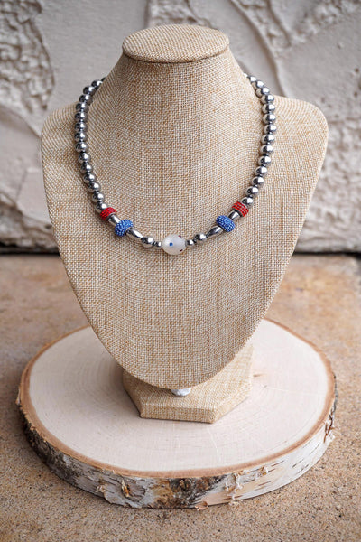Red, White & Blue Magnetic Necklace