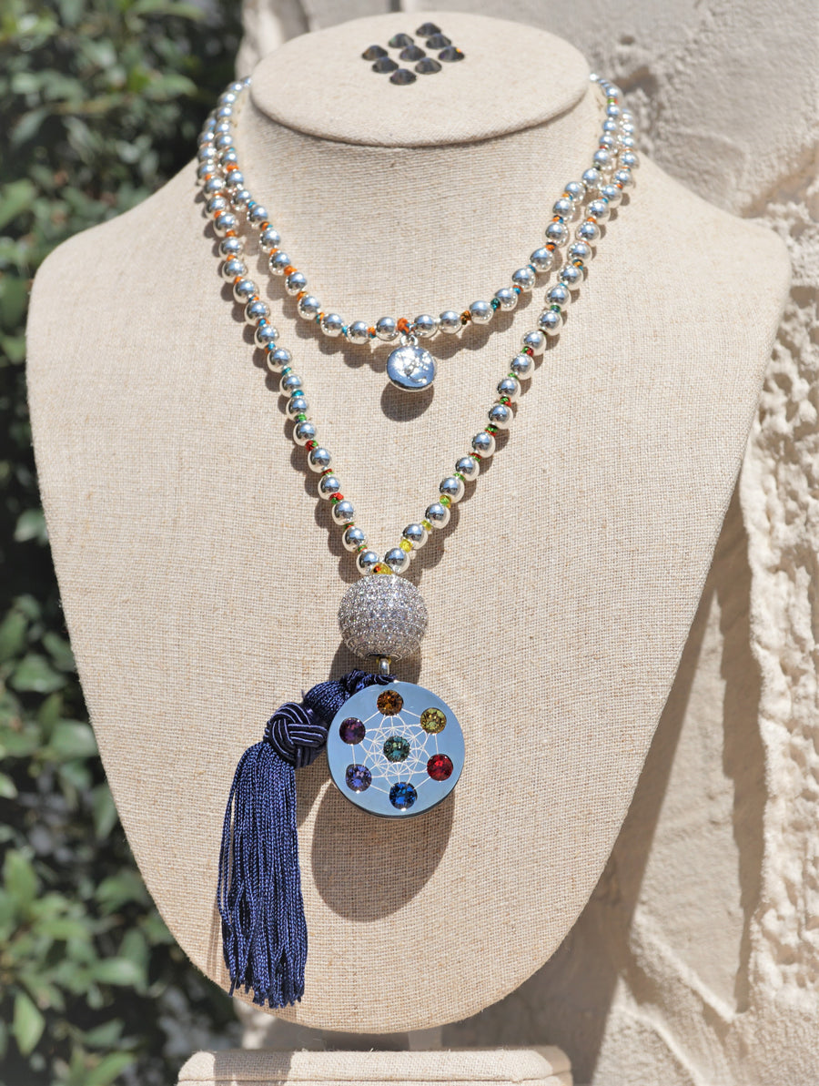 Metatron Dipped Bead Necklaces