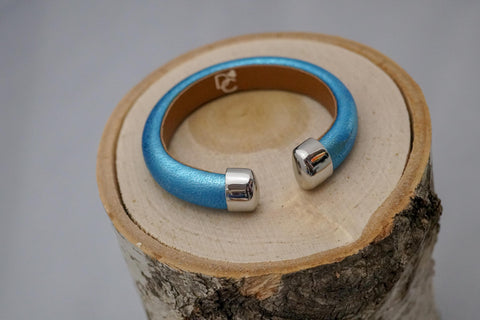 Single Cuff Bracelet without Stones- Aqua