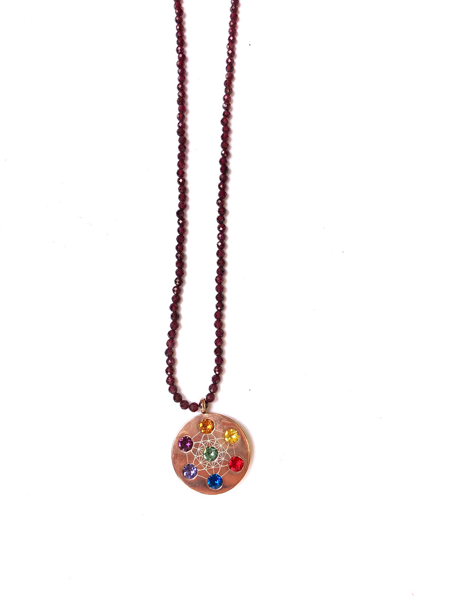Large Beaded Metatron Necklace