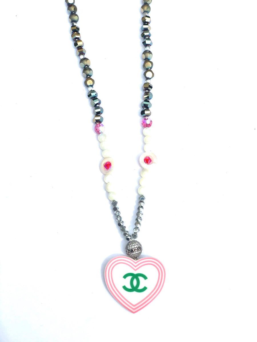 CC Heart CZ Necklace
