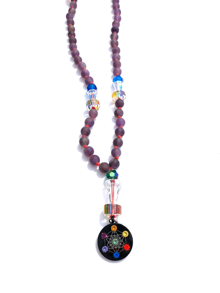 Metatron Purple Necklace